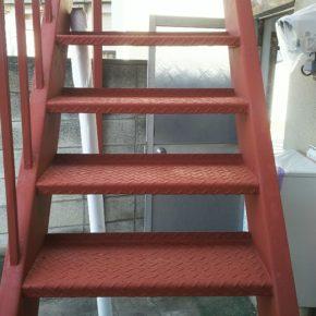 渋川市鉄骨階段塗装